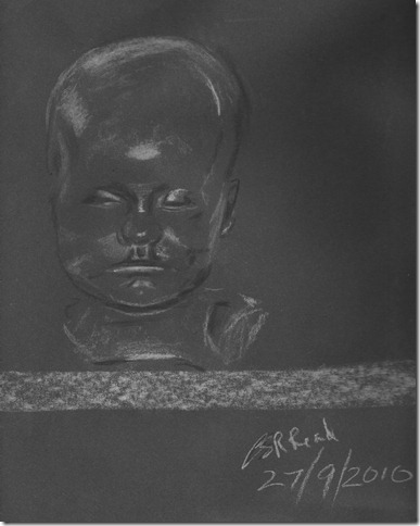 ©2010 Cathy Read - Sleeping baby statue