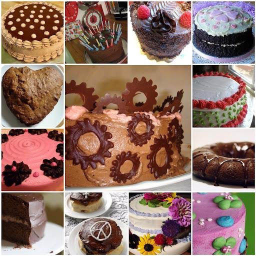 vegan cakes mosaic picture