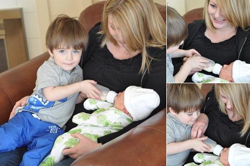 View Miles feeding Baby