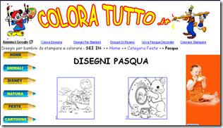 DISEGNI PASQUA, disegni per bambini da stampare e colorare, by Colora tutto .it_1268812922899