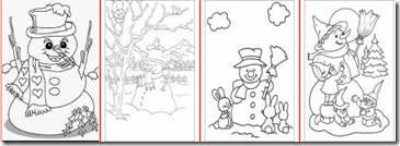 Desene de colorat Om de zapada Craciun - Strada Piticilor_1293141909261