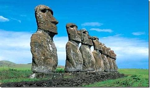 insula Pastelui-statui din piatra
