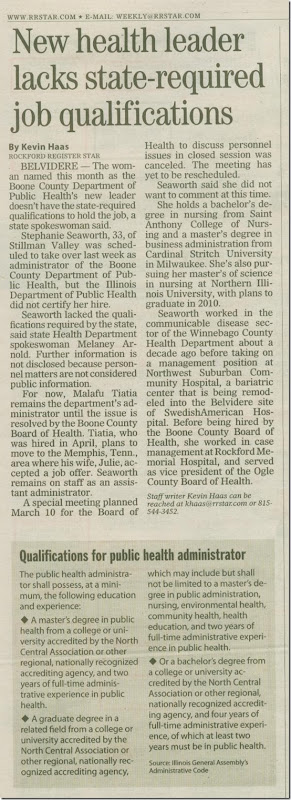 Health director revised