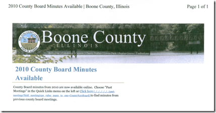 Boone County Board Minutes