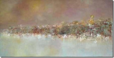 Pascal Bouterin, Le Grand Canal, 30 x 60, Oil on Wood