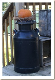 pumpkin on milk can 09