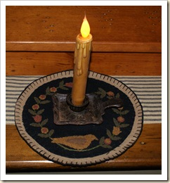 candle mat with cast iron candle holder 1
