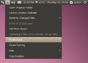 dropbox appindicator ubuntu 10.04 screenshot