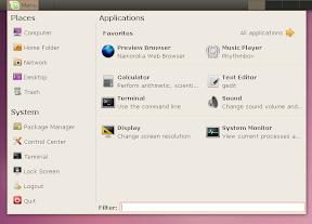 linux mint main menu