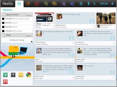 meego 1.0 screenshot