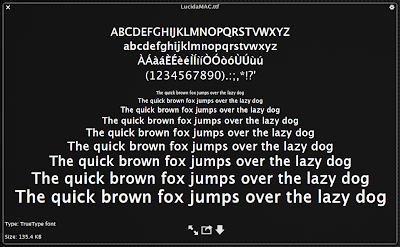 lucida mac font
