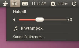 sound indicator when rhythmbox is closed