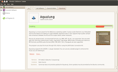 Ubuntu Software Center 2.1.5 - Installing an app