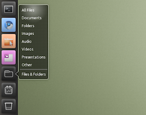 unity files and folders menu