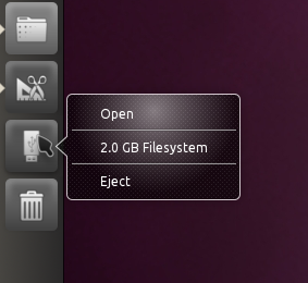 Unity Ubuntu 10.10 eject drive screenshot