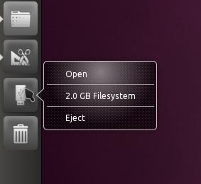 Unity Ubuntu 10.10 eject drive screenshot