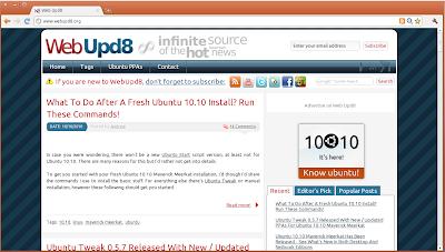 WebUpd8 ubuntu font