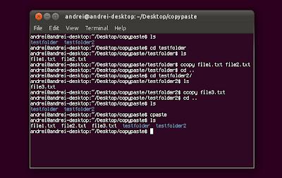 Copy paste command line