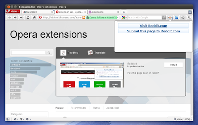 Opera 11 extensions