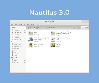 Nautilus 3.0 mockups