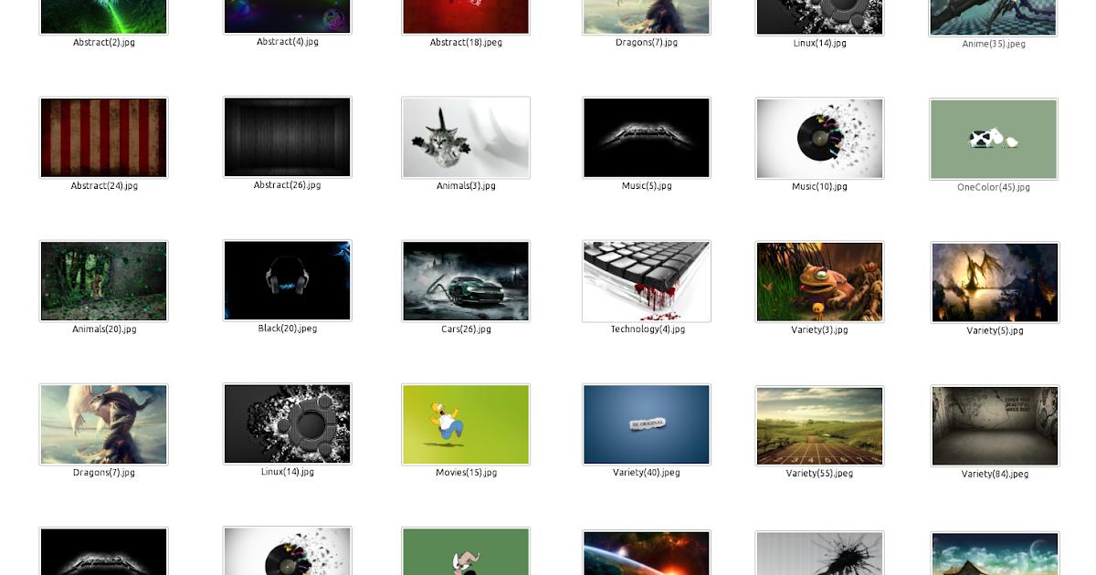 ubuntu organized wallpaper