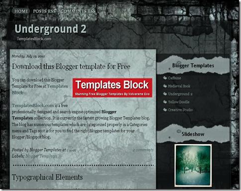 Underground 2 Blogger Template