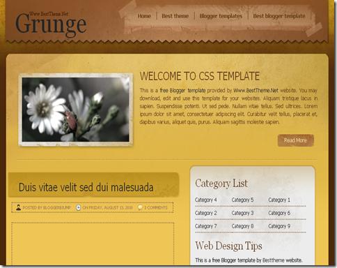 Grunge Blogger Template