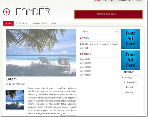 Leander Blogger Template
