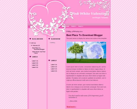Pink White Valentine