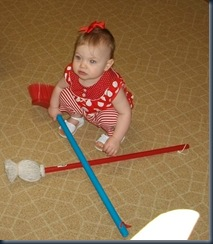 My own mop and broom