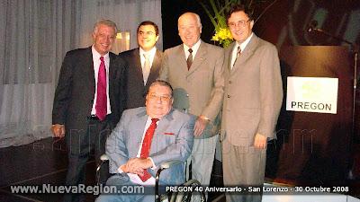Dos generaciones: Los fundadores y el actual director, Ivan Ludueña