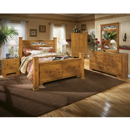 Inspirational Bittersweet Poster Bed Set Timberline Cherry Bed Set