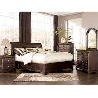 Leighton Sleigh Bedroom Set Key Town Panel Bedroom Set