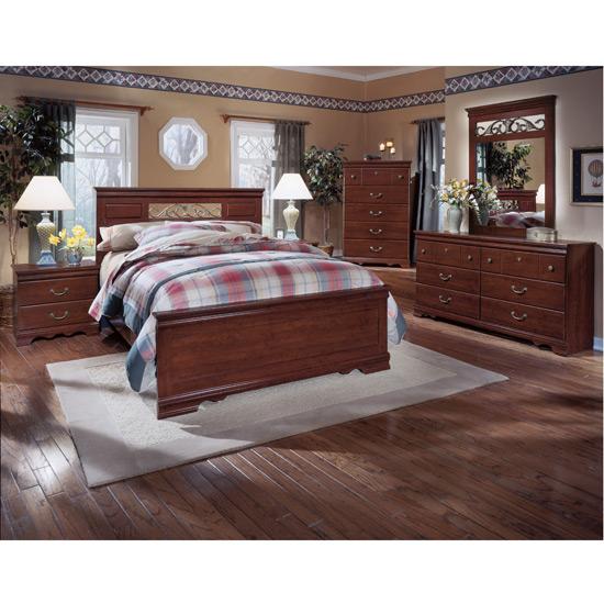 Superb Highland Park Panel Bedroom Set Brush Hollow Poster or Sleigh Set