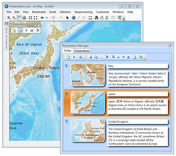 Presentation AddIn for ArcGIS Desktop 10