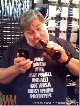 Steve Wozniak shows sense of humor as well as solidarity with Apple engineer Gray Powell.