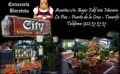 Bienvenidos a Cervecería City en La Paz, Puerto de la Cruz, Tenerife