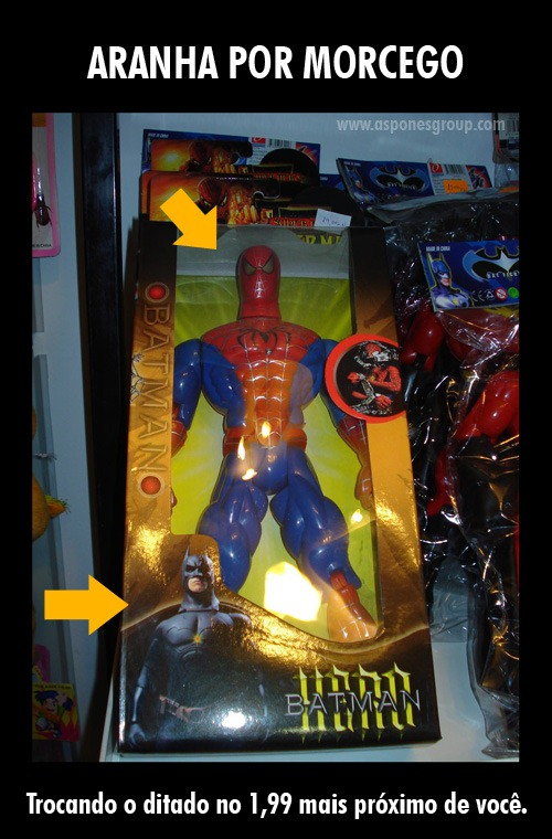 batman spiderman fail aspones