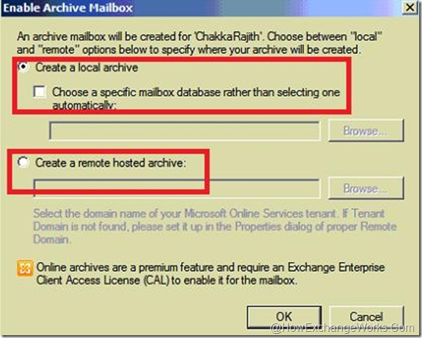 Enable Archive Window