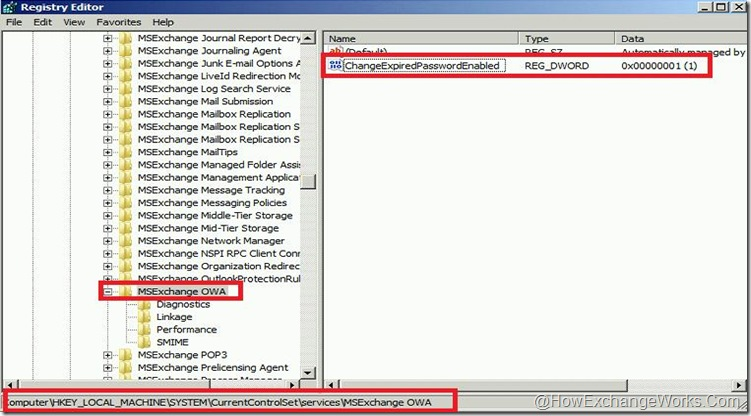 Password reset registry edit 2010 SP1
