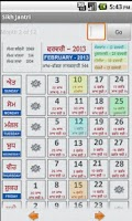 Screenshot of NanakShahi Calendar-Jantri2013