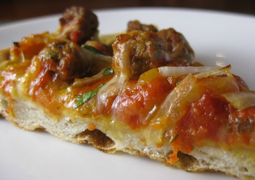 Meatball Tagine Pizza