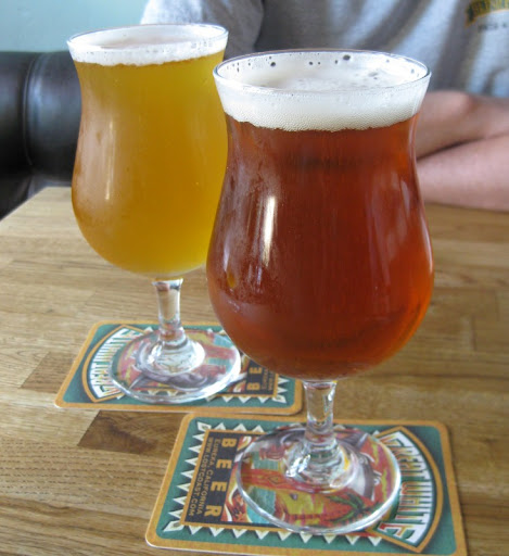 Maredsous Tripel and Houblon Chouffe at Beachwood BBQ