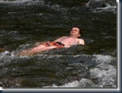 Chase in the rapids again