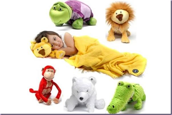 Bichinhos-Plush-Cobertor-Travesseiro-Tartaruga-Macaco-Urso-Leão-Jacaré