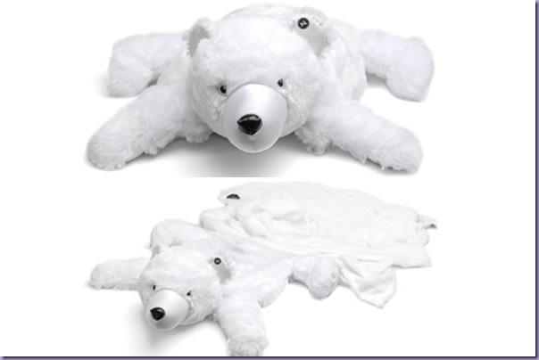 Urso-Polar-Plush-Travesseiro-Cobertor-Brinquedo