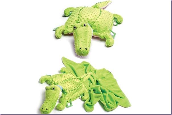Jacará-Plush-Travesseiro-Cobertor-Brinquedo