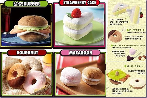 Produtos-Limpeza-Monitores-Tela-Donuts-Macaron-Sanduíche-Fatia-Bolo
