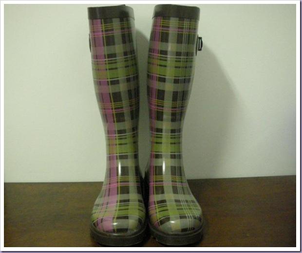 Galochas-Xadrez-Rain-Boots-Wellies