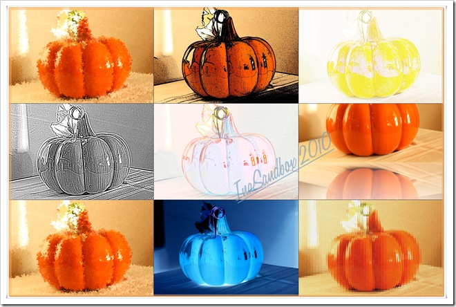 pumpkin mosiac